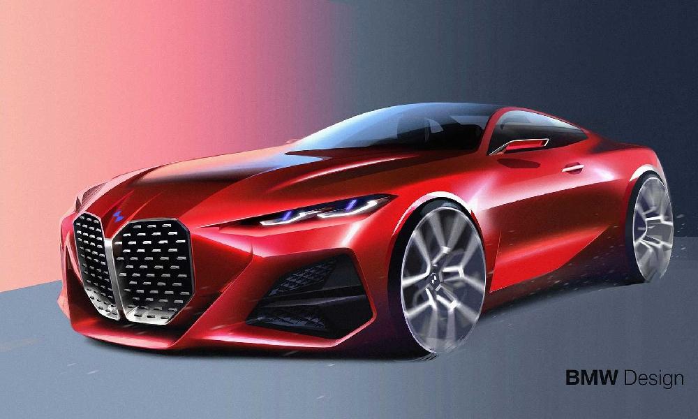 ร่างกราฟฟิคของ  BMW Concept 4  บ่องบอกถึงความสปอร์ตล้ำสมัย