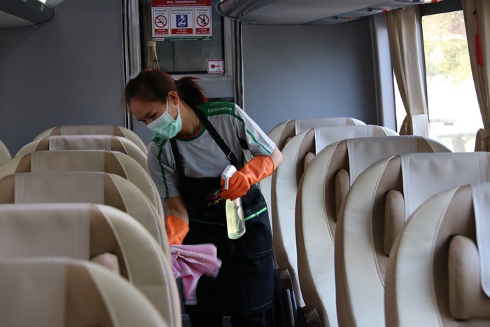 ขนส่งฯ สั่งฆ่าเชื้อโรครถโดยสารทุกคัน ป้องกันไวรัสโคโรนา