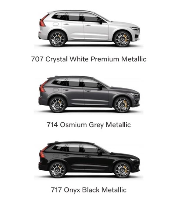 สี Volvo XC60 T8 Polestar Engineered ทั้ง 3 ตัวถัง
