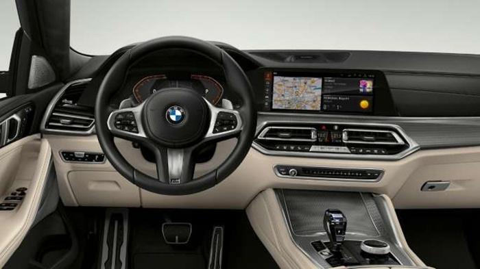 ห้องโดยสารภายในของ BMW X6