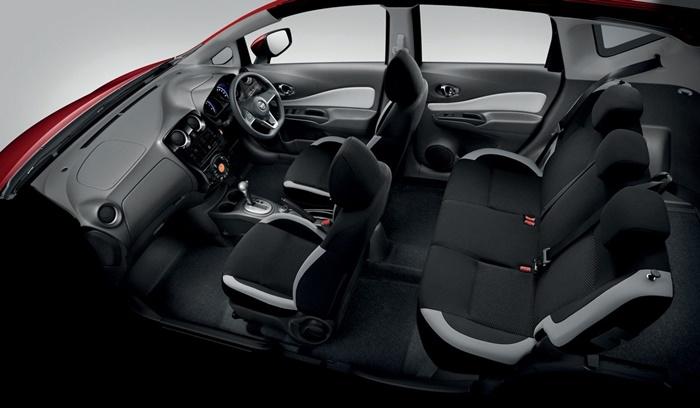 Nissan Note ตกแต่งภายในด้วยวัสดุโทนดำ มาในขนาด 5 ที่นั่ง