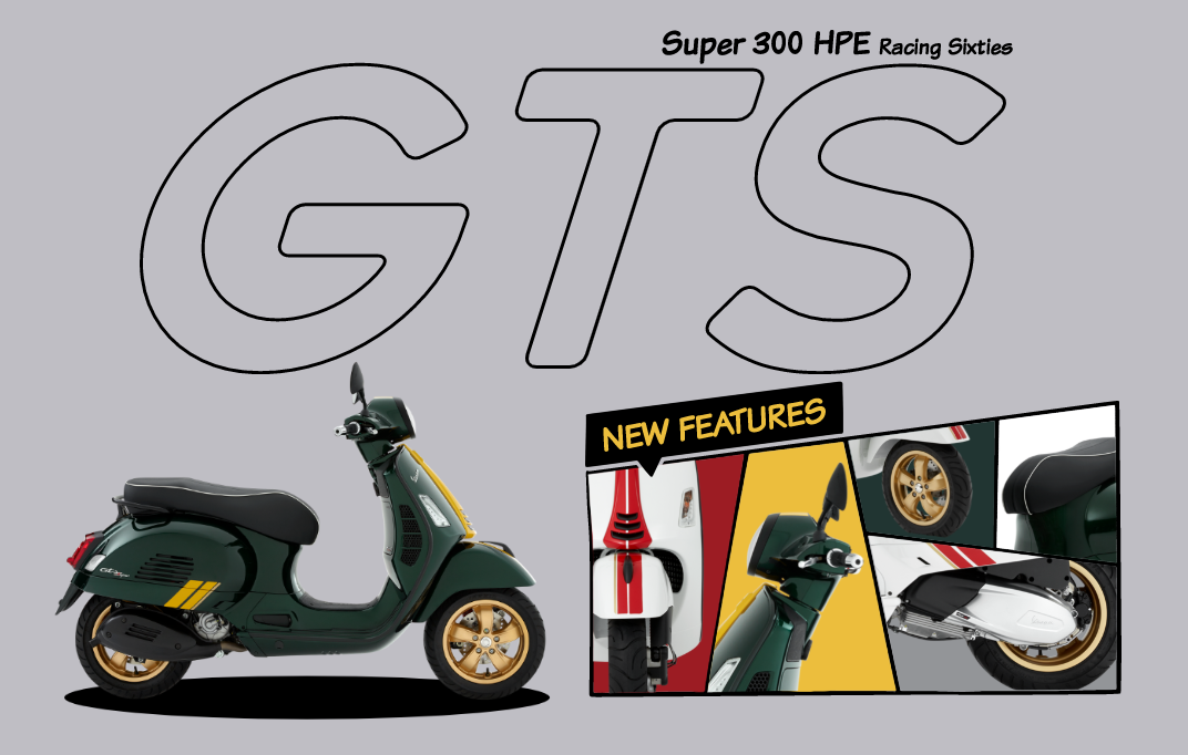 2020 Vespa GTS SUPER 300 HPE Racing Sixties