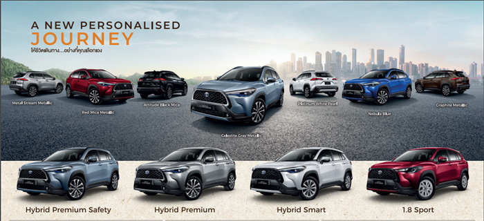 Toyota Corolla Cross 2020 มีให้เลือกทั้งหมด 7 สี