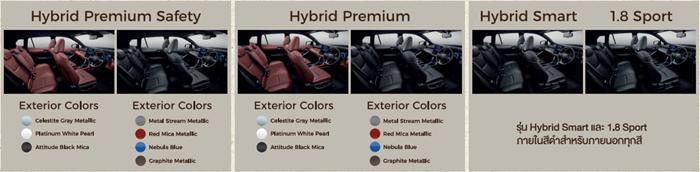 สีภายในของ Totoya Corolla CROSS 2020 ให้เลือก 2 สีสัน