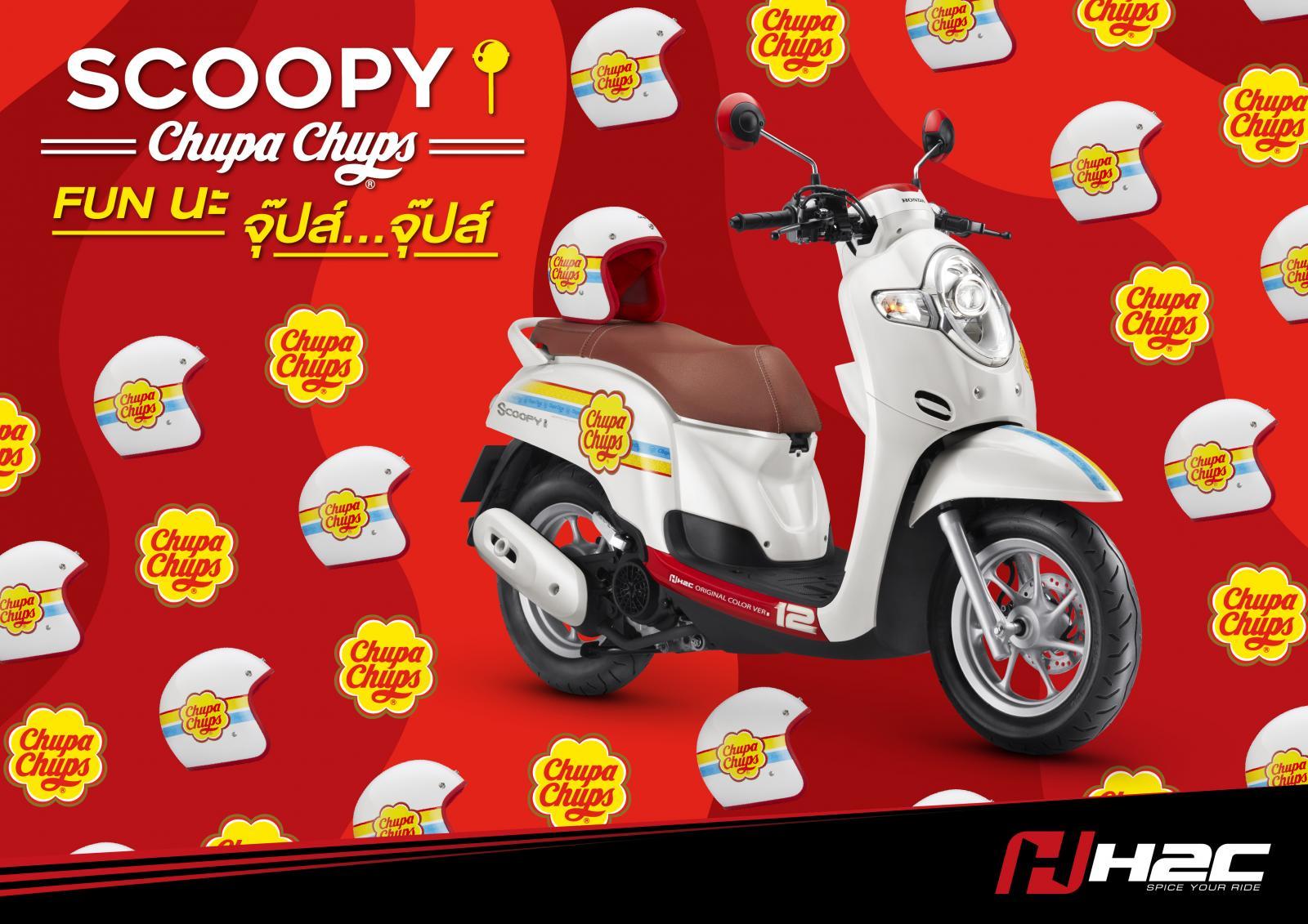 ราคาและตารางผ่อน ดาวน์ Honda Scoopy i Chupa Chups