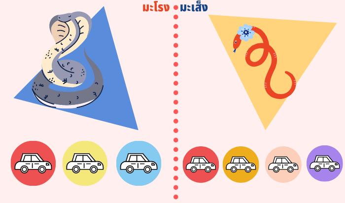 สีรถถูกโฉลกปีมะโรง-มะเส็ง