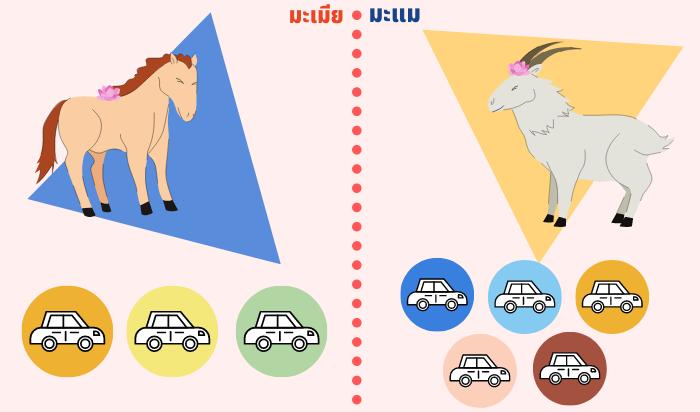 สีรถถูกโฉลกปีมะเมีย-มะแม