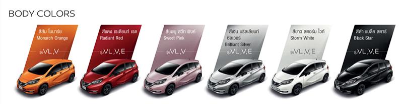ราคาและตารางผ่อน ดาวน์ Nissan Note 2020