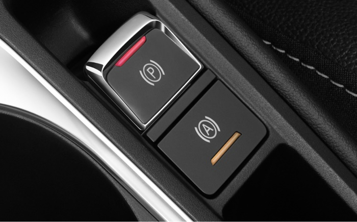 ระบบเบรกมือไฟฟ้า EPB และระบบป้องกันการไหลของรถโดยไม่ต้องเหยียบเบรกค้าง AVH