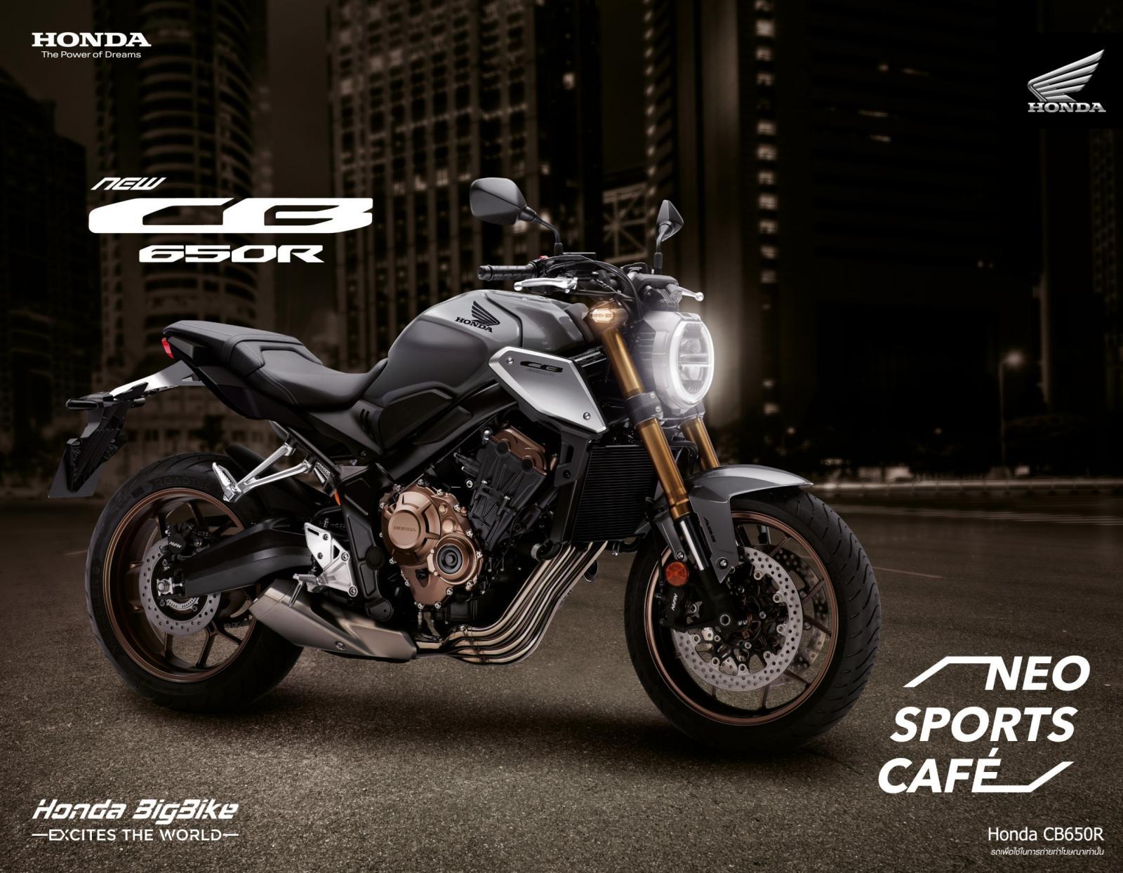 ราคาและตารางผ่อน ดาวน์ Honda CB650R 2021