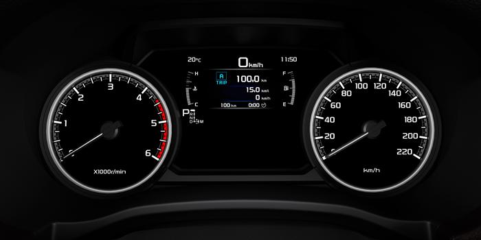 หน้าจอแสดงข้อมูลการขับขี่แบบดิจิตอล Multi-Information Display (MID)