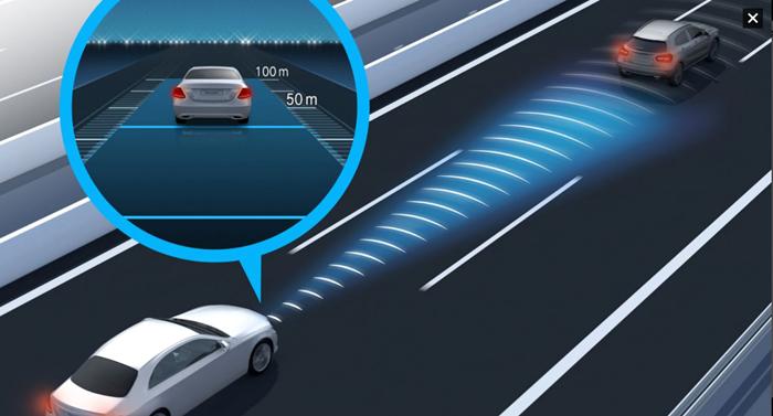 ระบบควบคุมระยะห่างของรถยนต์ขณะขับขี่แบบแอคทีฟ DISTRONIC