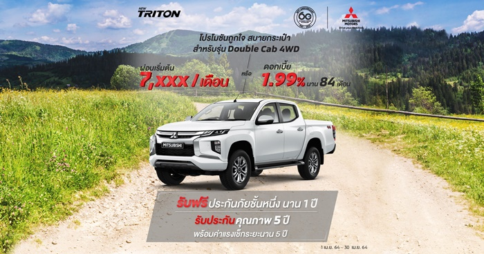 New Triton สำหรับรุ่น ดับเบิ้ล แค็บ (4WD)