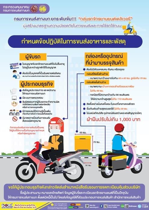 แนวทางปฏิบัติคนขับรถส่งของ/อาหาร