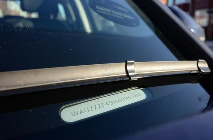 เลขตัวถัง หรือ VIN (Vehicle Identification Number)