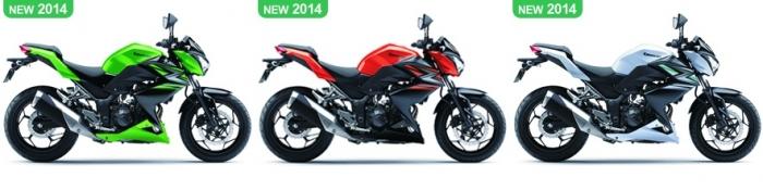 สี Kawasaki Z250 2014