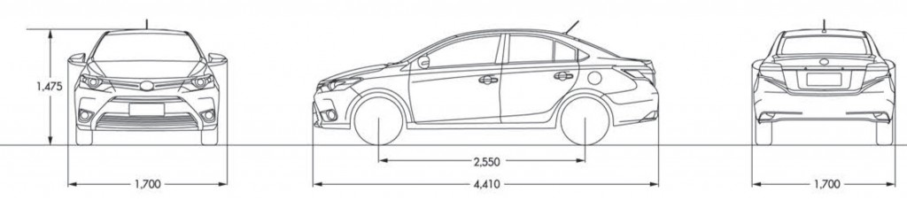 New Vios Size