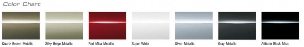 สีของรถโตโยต้า Vios