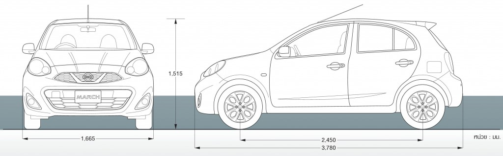 Nissan March Size
