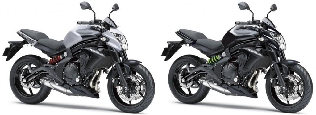 สี Kawasaki ER6N ปี 2014