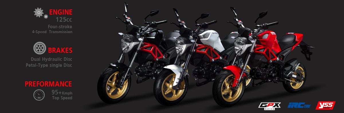 GPX DEMON 125cc Colors