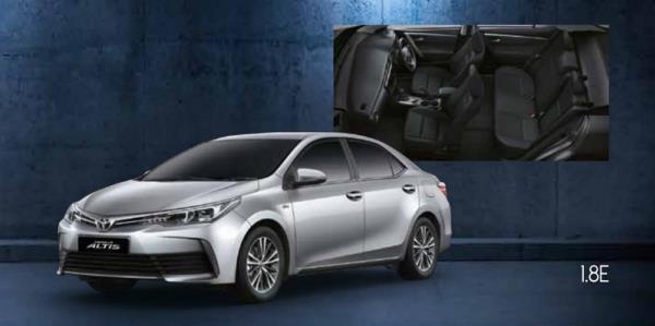 ภายในและภายนอกของ Toyota Corolla Altis 2019 รุ่น 1.8E AT