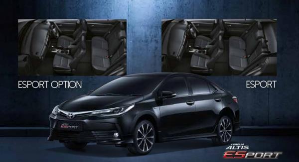 ภายในและภายนอกของ Toyota Corolla Altis 2019 ของรุ่น 1.8E Sport Option
