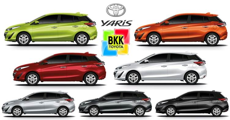 Toyota Yaris 2019 มีสีให้เลือกทั้งหมด 7 สี