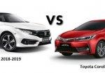 เทียบสเปค Honda Civic 2018-2019 กับ Toyota Corolla Altis  2018 รุ่นไหนโดนใจกว่ากัน