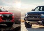 เปรียบเทียบสุดยอดรถกระบะ Ford Ranger Raptor 2018 vs. Toyota Hilux Revo Rocco 2018