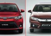 เปรียบเทียบ Honda City กับคู่แข่ง Toyota Vios ซื้อคันไหนดี