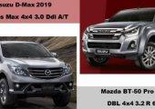 เปรียบเทียบ Isuzu D-Max V-Cross 2019 vs Mazda BT-50 Pro 2019