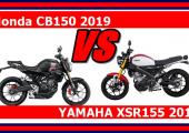 เทียบคู่เดือด Honda CB150 2019 vs YAMAHA XSR155 2019