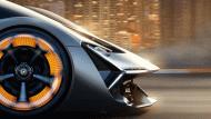 มุมมองด้านหน้าของซูเปอร์คาร์ Lamborghini Terzo Millennio - 6