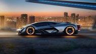มุมมองด้านข้างของซูเปอร์คาร์ Lamborghini Terzo Millennio - 1