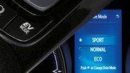 Toyota C-HR 2018 ได้รับการออกแบบอย่างประณีตด้วยสีภายในแบบทูโทน (สีดำและน้ำตาล) เสริมด้วยฟังก์ชั่นปรับโหมดการขับขี่ในแบบ Sport Mode , Normal Mode และ Eco Mode  - 5