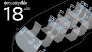 ช่องระบายอากาศบน 18 ช่อง  NISSAN URVAN  CNG ทำให้อากาศเย็นทั่วถึงไปยังบริเวณผู้โดยสารทุกที่นั่ง - 8