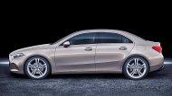 ตัวถังของ All-new Mercedes-Benz A-Class Sedan 2019 จะมีความยาว 4,549 มม. กว้าง 1,796 มม. สูง 1,446 มม. ฐานล้อยาว 2,729 มม.  - 4
