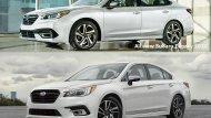 เปลี่ยนเหมือนปรับโฉม All-new Subaru Legacy 2020 ด้วยโปรไฟล์ด้านข้างที่ช่วยให้ตัวรถดูหนาขึ้น ส่วนทรีตเมนต์เสา C ปรับให้ลื่นไหลต่อเนื่องมากกว่าโฉมก่อนเล็กน้อย บังโคลนหน้ากว้างขึ้นเพื่อพรีเซนต์ล้อรถ กระจังหน้าหกเหลี่ยมแบบไร้กรอบ โชว์แนวร่องตะแกรงลอยตัว - 2