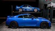 สำหรับรถสปอร์ตรุ่นพิเศษ  GT-R 50th Anniversary Edition 2020 นั้น มีการใส่ความโดดเด่นให้แก่ภายนอกตัวรถด้วยสีพิเศษในแบบสีฟ้าสดใสตัดสลับกับแถบสีพิเศษแบบ Pearl White ขาวไข่มุก , แดง และ Super Silver สีเงิน - 1