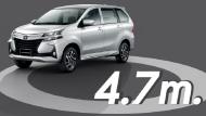 Toyota Avanza 2019 มีรัศมีวงเลี้ยวที่แคบมากๆ เพียงแค่ 4.7 เมตร เท่านั้น จึงทำให้มีความคล่องตัวในการขับขี่มากขึ้น - 13