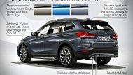 หนึ่งไฮไลท์ภายนอกของ SUV คันนี้คือ กระจกมองข้างฝั่งผู้ขับมาพร้อมไฟ LED ซึ่งฉายภาพ X1 ทูโทนที่พื้นเมื่อไม่ได้ล็อกรถ พร้อมด้วยล้อลายใหม่และสีตัวรถใหม่ที่เพิ่มเข้ามา 3 สี อย่าง  Jucaro Beige, Misano Blue Metallic และ BMW Individual Strom Bay Metallic   - 4