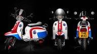 Scomadi TT125i และ Scomadi TT200i The Who Limited Edition จะตกแต่งด้วย 3 สีหลัก สะดุดตา คือแดง น้ำเงิน - 2