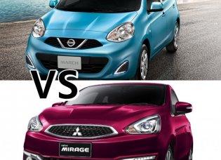 เทียบกันแบบจะๆ ระหว่าง Nissan March 2019 กับคู่แข่งตลอดกาล Mitsubishi Mirage 2019