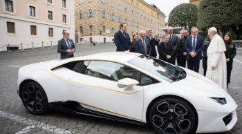 ช็อควงการยานยนต์ เปิดประมูล Lamborghini Huracan RWD ของพระสันตะปาปา Pope Francis