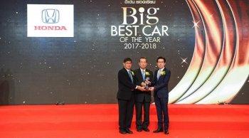 สุดยอด All New Honda CR-V 2018 ได้รับรางวัลรถดีเด่น 2 ปีซ้อน BIG Best Car of The Year 2017-2018