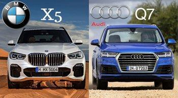 ไฟว้กันหมัดต่อหมัดกับพรีเมียม SUV ระดับไฮเอนท์ ระหว่าง Audi Q7 2019 กับ BMW X5 2019