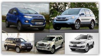 5 อันดับรถ SUV มือสอง สภาพดี ราคาถูกที่สุดในตลาดปัจจุบัน