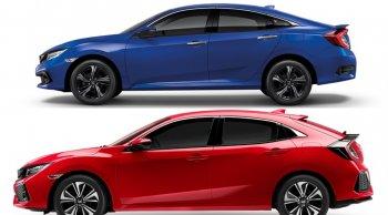 ราคาและตารางผ่อน ดาวน์ Honda Civic พร้อม 2 ตัวถัง HATCHBACK และ SEDAN