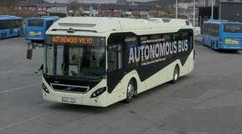 นี่มันยุคปัญญาประดิษฐ์แล้วหรือ? Volvo สาธิตโชว์รถบัสไร้คนขับ